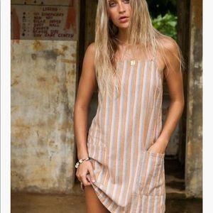 Billabong Straight Round Striped Mini Dress